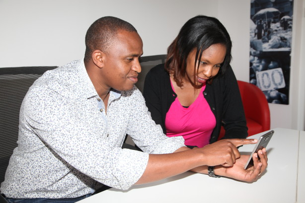 OLX Country Manager, Peter Ndiang'ui (left),