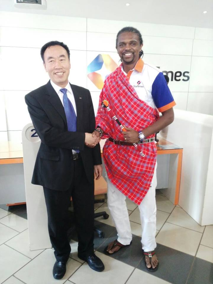 kanu at startimes headquarters