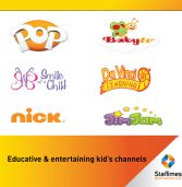 StarTimes Cartoon Channels keep kids in control over long holiday