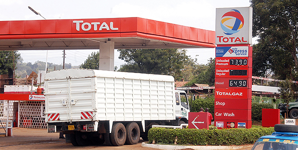 A Total petral station in Nyeri town